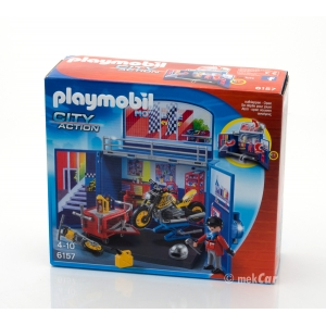 PLAYMOBIL CITY ACTION MOTORRADWERKSTATT 6157